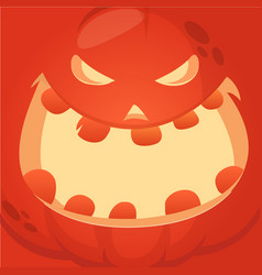 cartoon jack-o-lantern face vector image