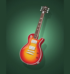 classic electric guitar vector image vector image