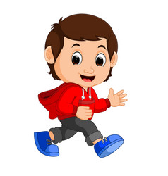 cute boy cartoon vector image