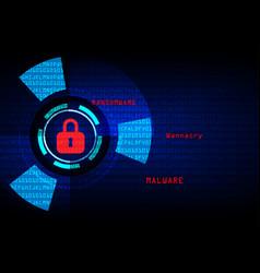 malware ransomware wannacry virus encrypted files vector image