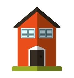 Orange house garden blinds windows vector