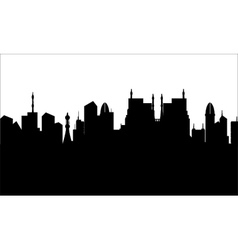 Silhouette of city heritage vector image vector image