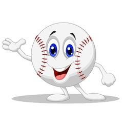 Baseball ball cartoon character vector image vector image