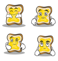 bread character cartoon set collection vector image