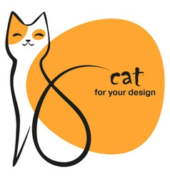 funny cat vector image