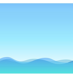 Sea and Sky Summer vector image vector image
