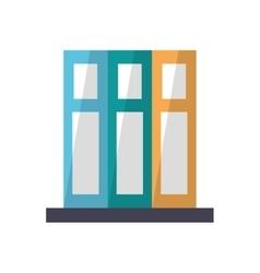 set book folder office elements design vector image