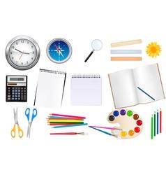 set of school supplest vector image vector image