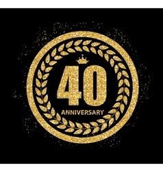 Template Logo 40 Years Anniversary vector image vector image
