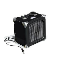 black guitar combo amplifier vector image vector image