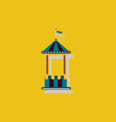 Circus ticket cart icon in sticker style vector