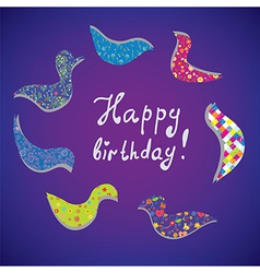 Greeting card for birthday vector image