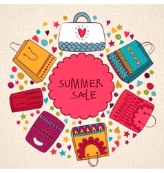 Sale summer background with bags vector image vector image