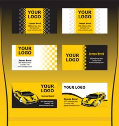 taxi service business cards vector image vector image