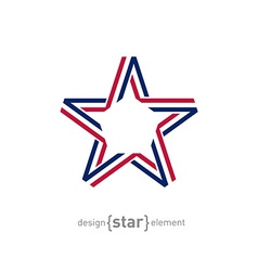 USA star from ribbon vector image vector image