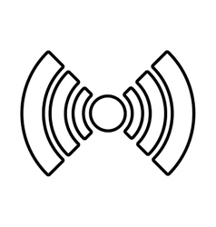 white radar icon with circle and stripes vector image