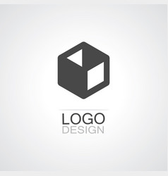 box icon logo vector image vector image