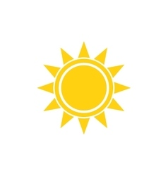 Flat sun summer bright icon on white vector image