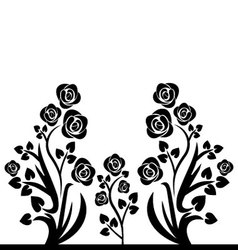 Flourishes black and white vector