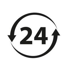 24 non stop icon vector image