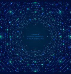 abstract big data of blue square pattern grid vector image