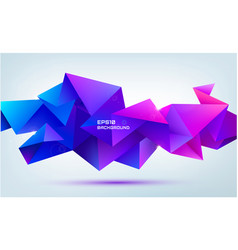 abstract geometric 3d facet shape isolated vector image