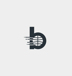 Abstract letter b logo design template dynamic vector