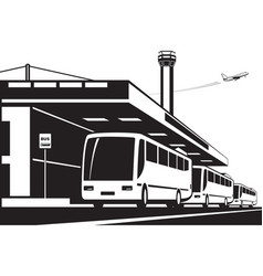 Airport bus transfer vector