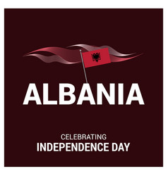 Albania independence day card design card vector