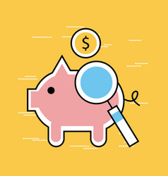 Analytic and investments flat pork vector