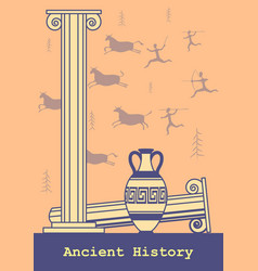 ancient history background vector image