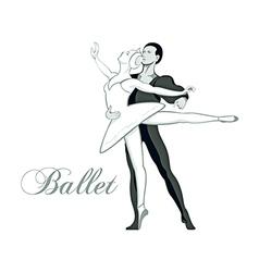 Ballet symbol vector image