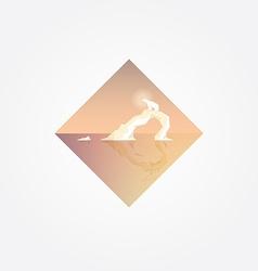 Beautiful geometric triangular symbol with polar vector image