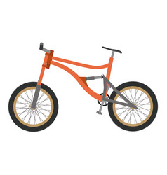 bike mountain downhill orange flat icon bicycle vector image
