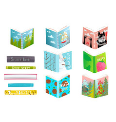 books for kids read and study hand drawn library vector image