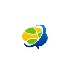 Brain abstract people digital technology logo vector