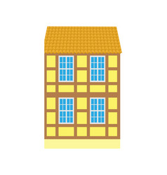 building in old city urban design building icon vector image