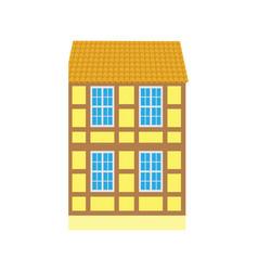 Building in old city urban design icon vector