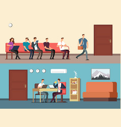 Business people employees sitting on chairs vector