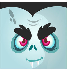Cartoon vampire face vector
