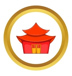 Chinese pagoda icon vector image