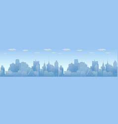 city skyline urban panorama vector image