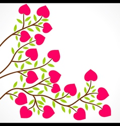colorful heart shape flower plant design vector image