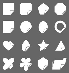 Corner lebel icons on gray background vector image