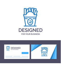creative business card and logo template fries vector image