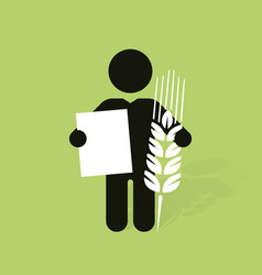 dark figure with the cob and a sign vector image