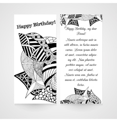 Designe greeting card with abstract hand drawn vector image
