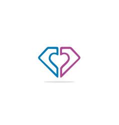 diamond shape line fashion logo vector image