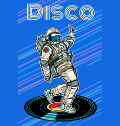 disco astronaut dances vector image