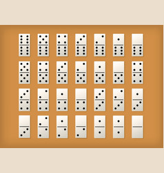 dominoes tiles or white domino mockups vector image